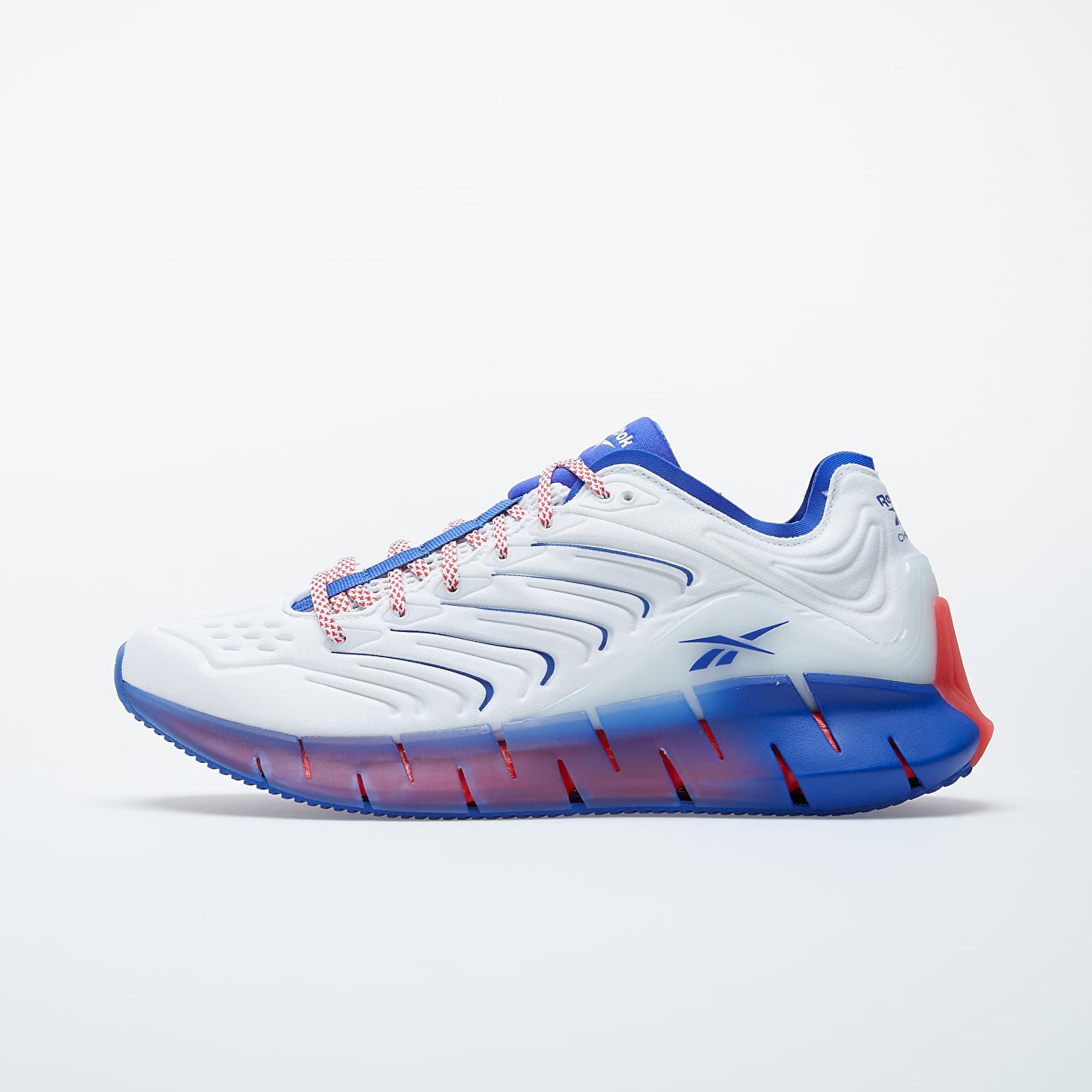 Încălțăminte și sneakerși pentru bărbați Reebok Zig Kinetica White/ Active Blue/ Radiate Red