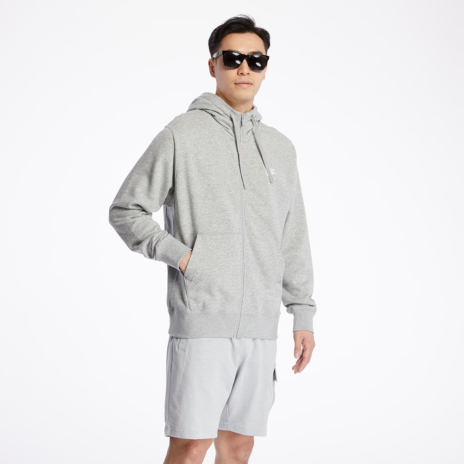 Sweatshirts Nike Sportswear Club Hoodie Dk Grey Heather/ Matte Silver/ White