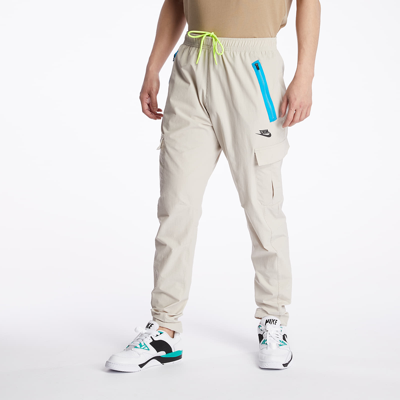 Pants and jeans Nike Sportswear Festival Woven Cargo Pants String/ Laser Blue/ Black