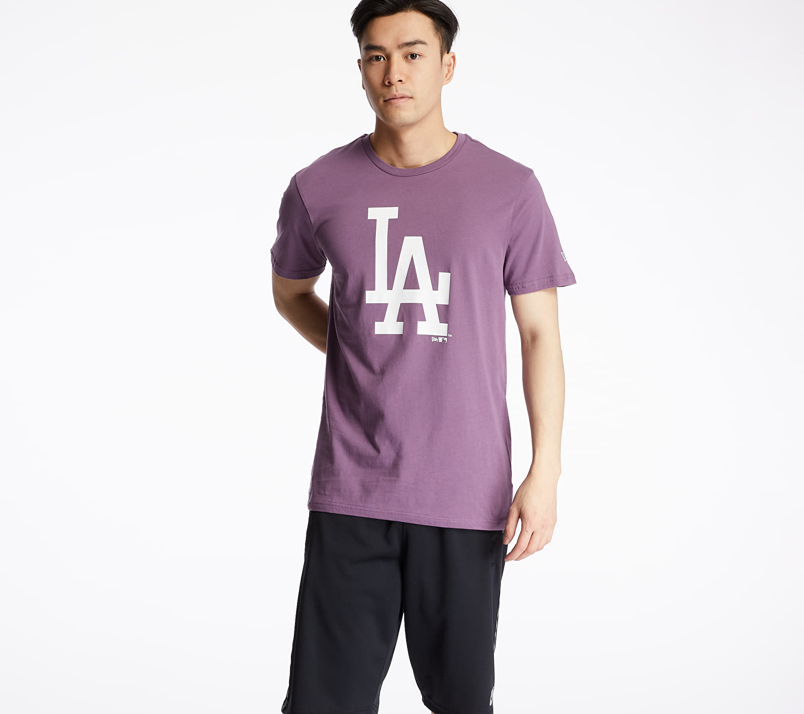 New Era MLB Seasonal Team Logo Los Angeles Dodgers Tee Purple S