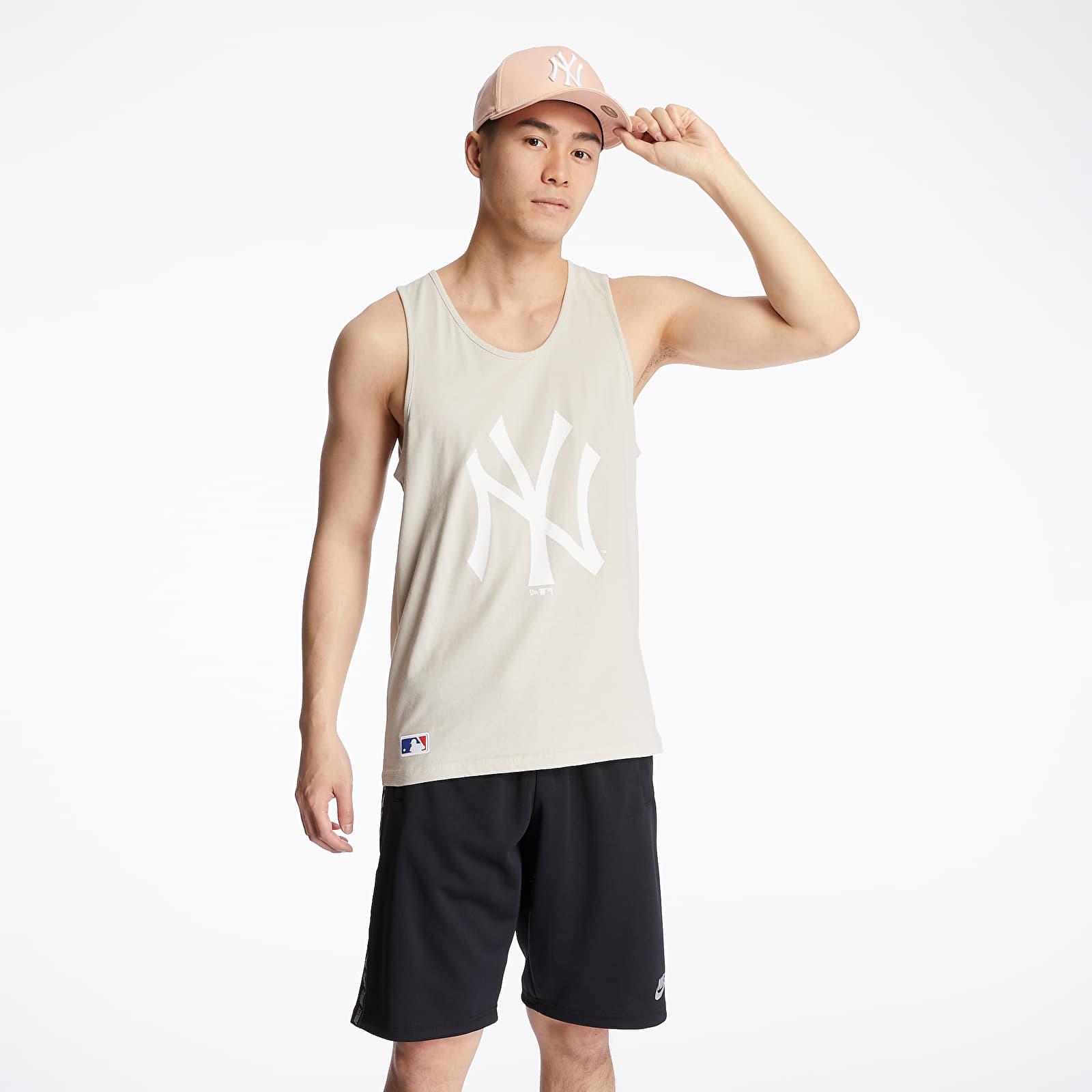 T-Shirts New Era MLB Team Logo New York Yankees Tank Beige
