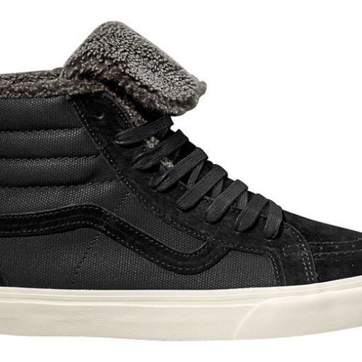 men s shoes vans sk8 hi zip t o mountain edition california black fleece footshop footshop