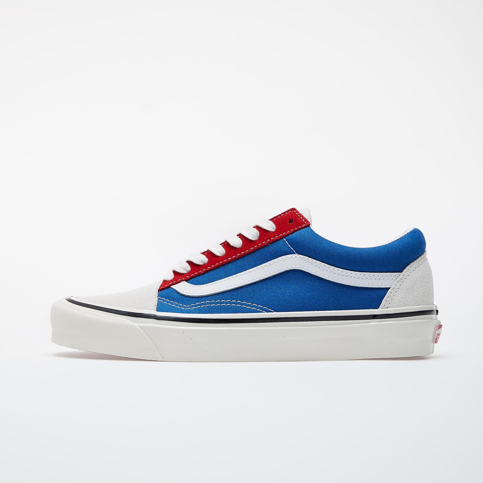 vans old skool red and blue