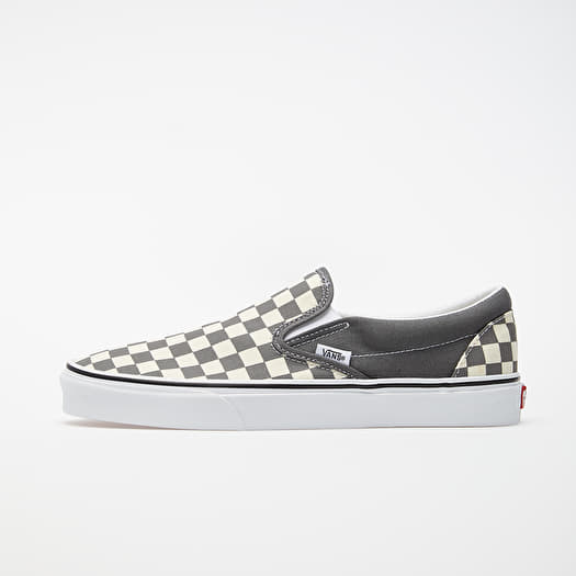 Vans Classic Slip On (Checkerboard) Pewter True White | Footshop