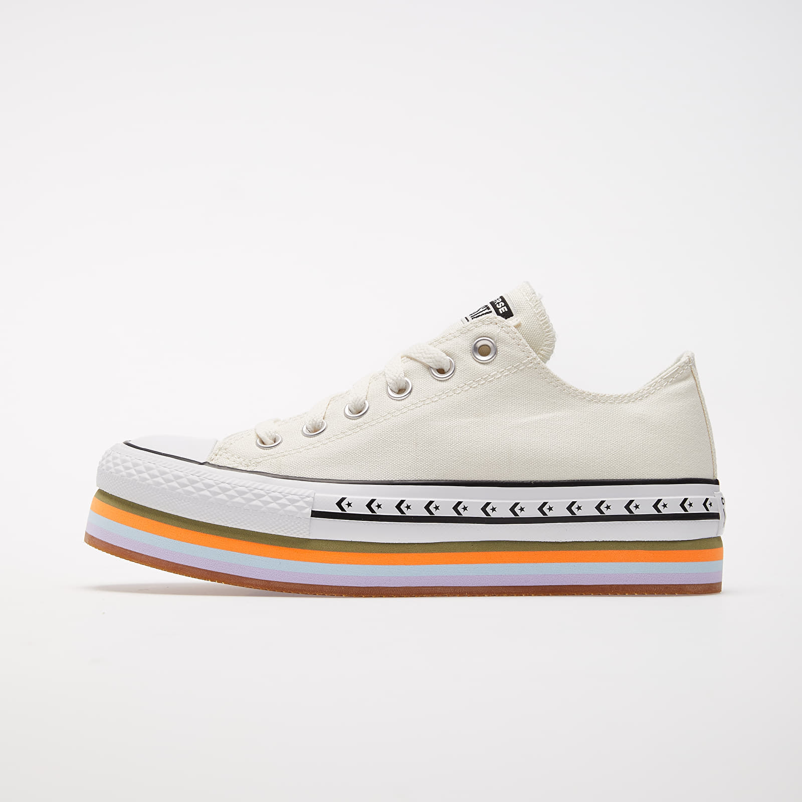Frauen Converse Chuck Taylor All Star Platform Layer OX Egret/ Total Orange/ Gum