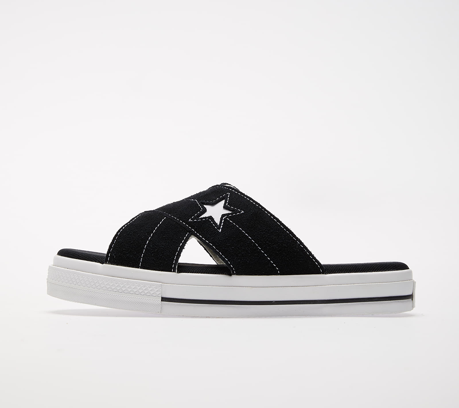 Converse One Star Sandal Black/ Egret/ White 1