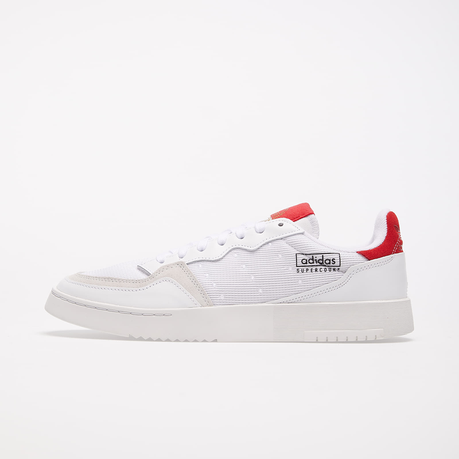 Chaussures et baskets homme adidas Supercourt Ftw White/ Ftw White/ Scarlet