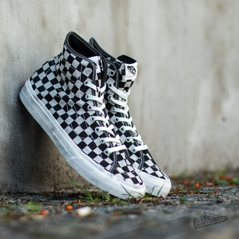 7434cbac05 Vans Sk8-Hi Decon Overwashed Black  Check