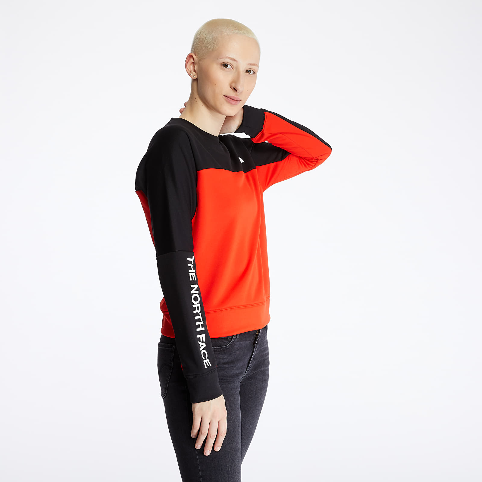 Mikiny a svetry The North Face Crop Pullover Red/ Black