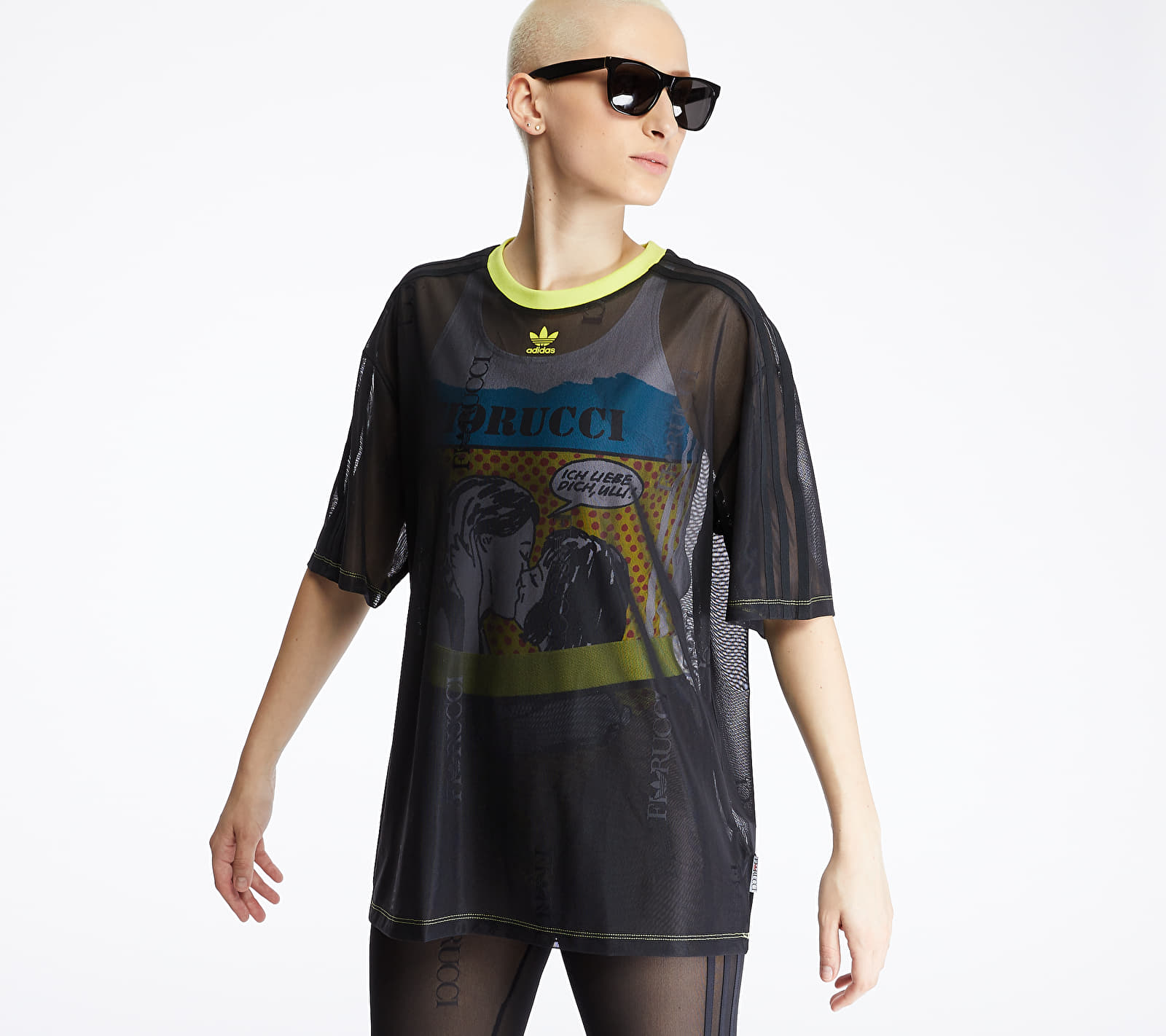 adidas by Fiorucci Sheer Tee Black