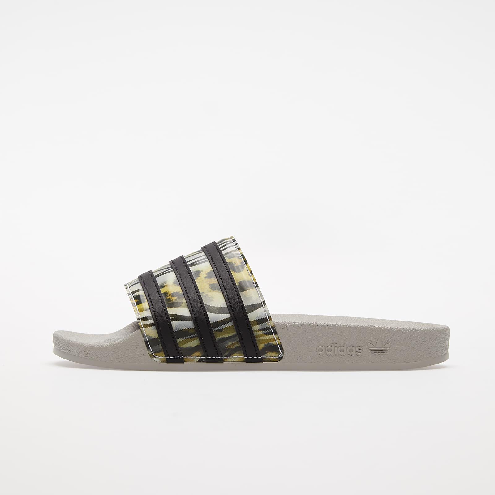 Women's shoes adidas Adilette W Core Black/ Core Black/ Metalic Grey