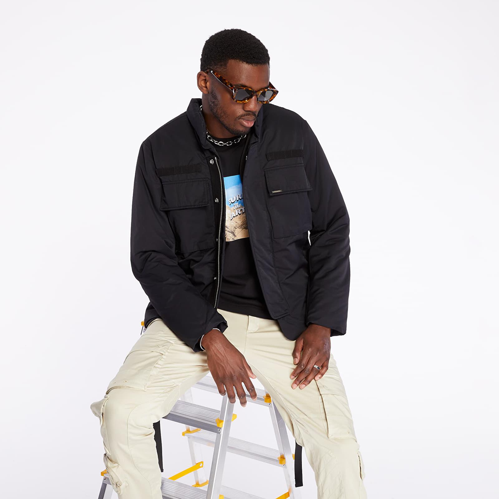 Geci Stampd Flak Jacket With Vest Black