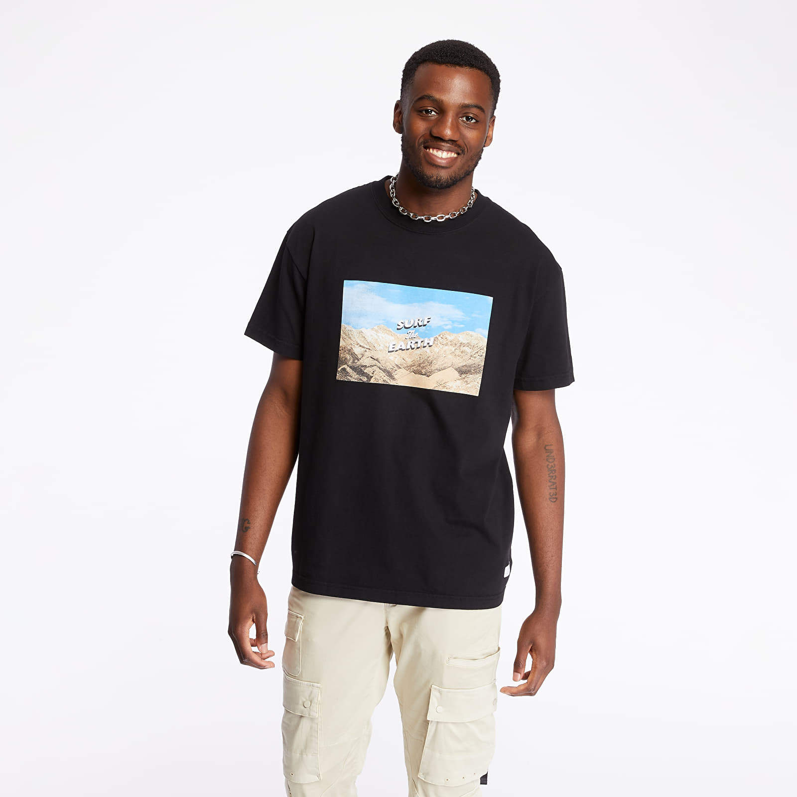 Tricouri STAMPD Surf The Earth Tee Black