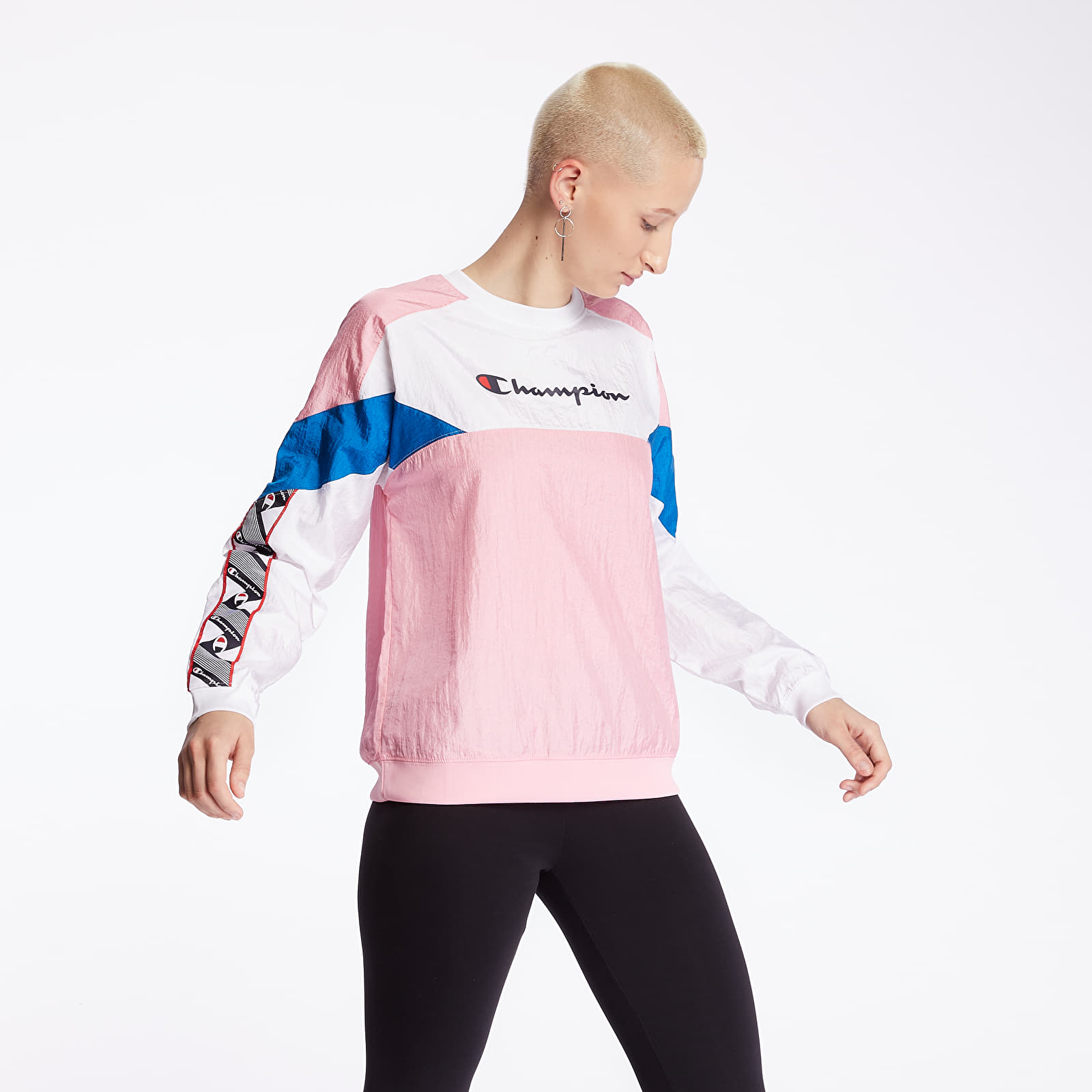 Mikiny a svetry Champion Crewneck Pink/ White/ Blue