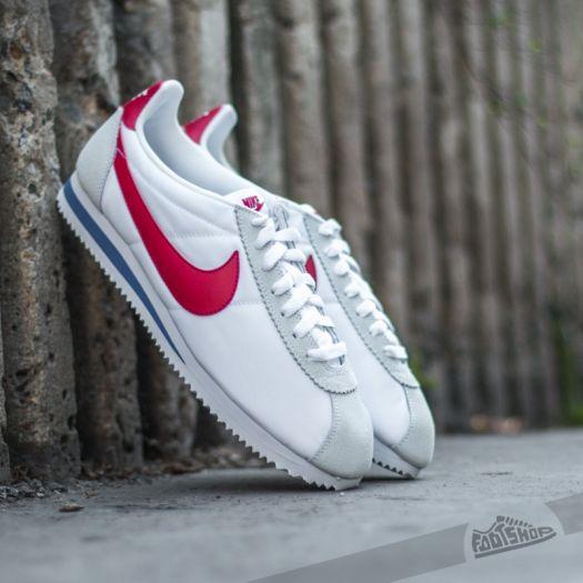 Nike Classic Cortez Nylon White/ Varsity Red- Varsity Royal | Footshop