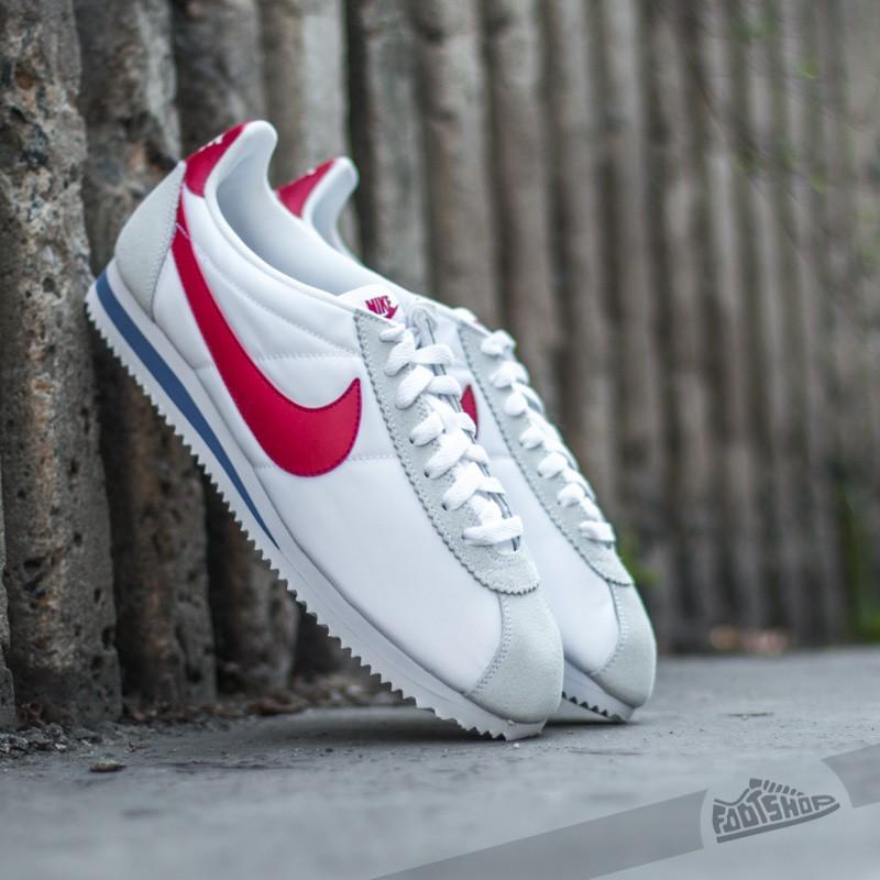 promo code 6e3e2 1fa17 Nike Classic Cortez Nylon White/ Varsity Red- Varsity Royal ...