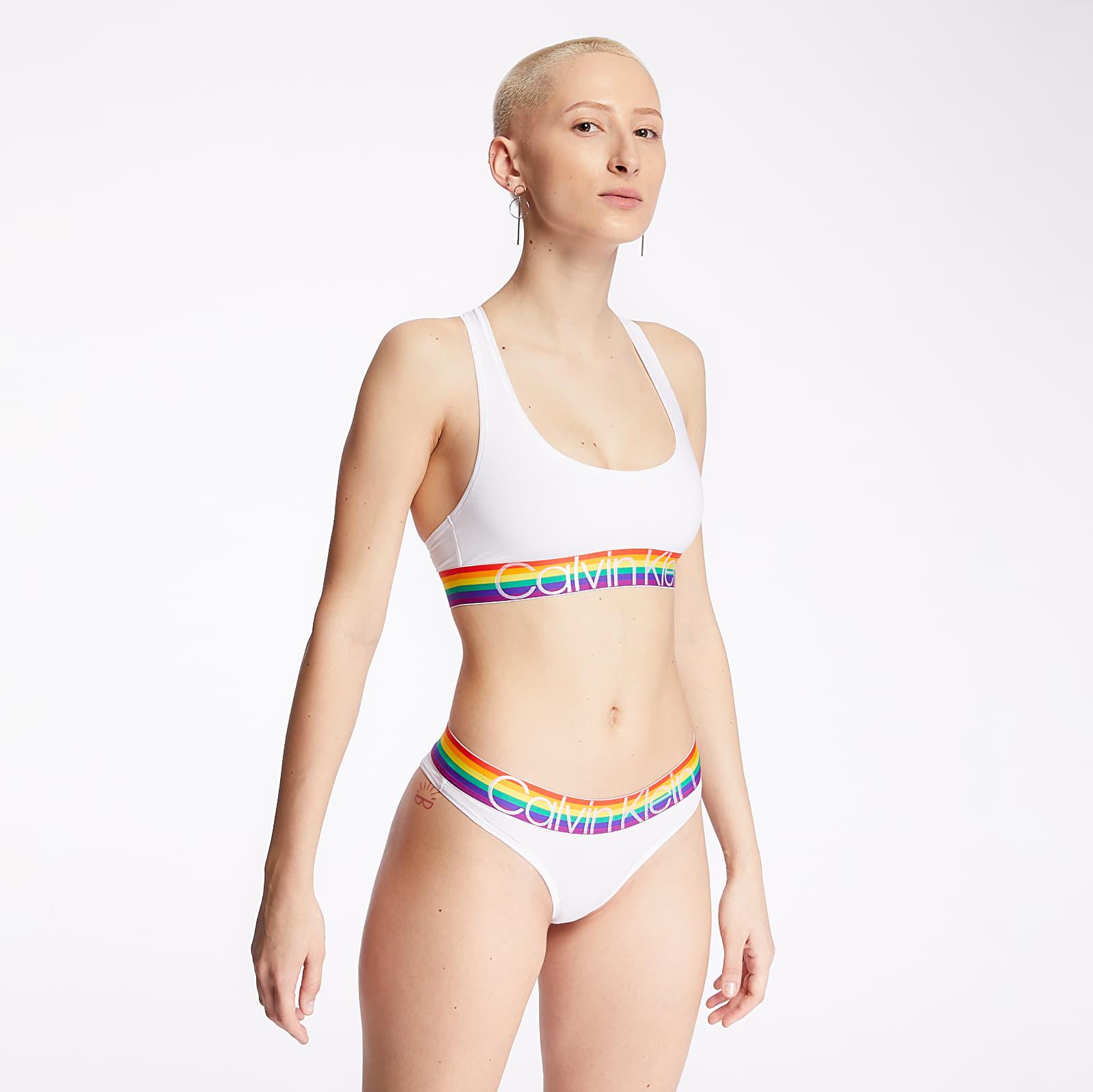 Dámské spodní prádlo Calvin Klein The Pride Edit Tanga White