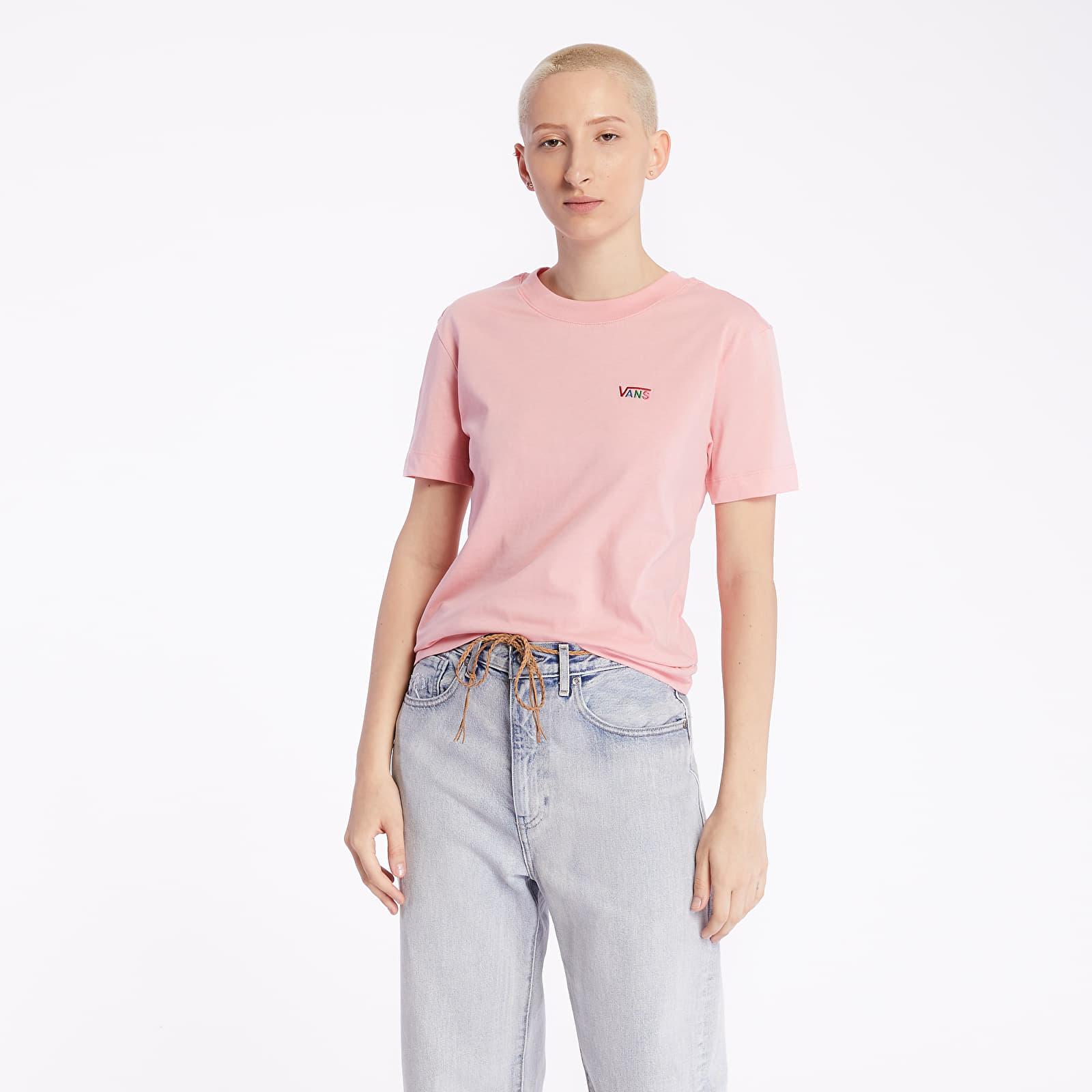 T-Shirts Vans Junior V Boxy Tee Pink Icing