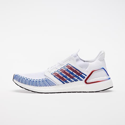 adidas UltraBOOST 20 Ftw White/ Scarlet/ Royal Blue | Footshop