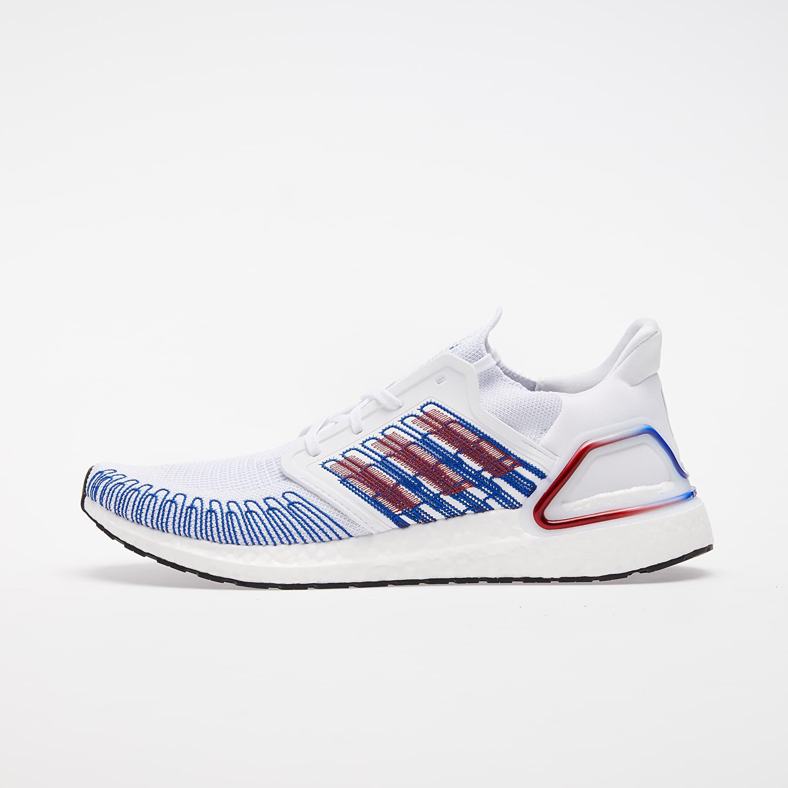Pánské tenisky a boty adidas UltraBOOST 20 Ftw White/ Scarlet/ Royal Blue