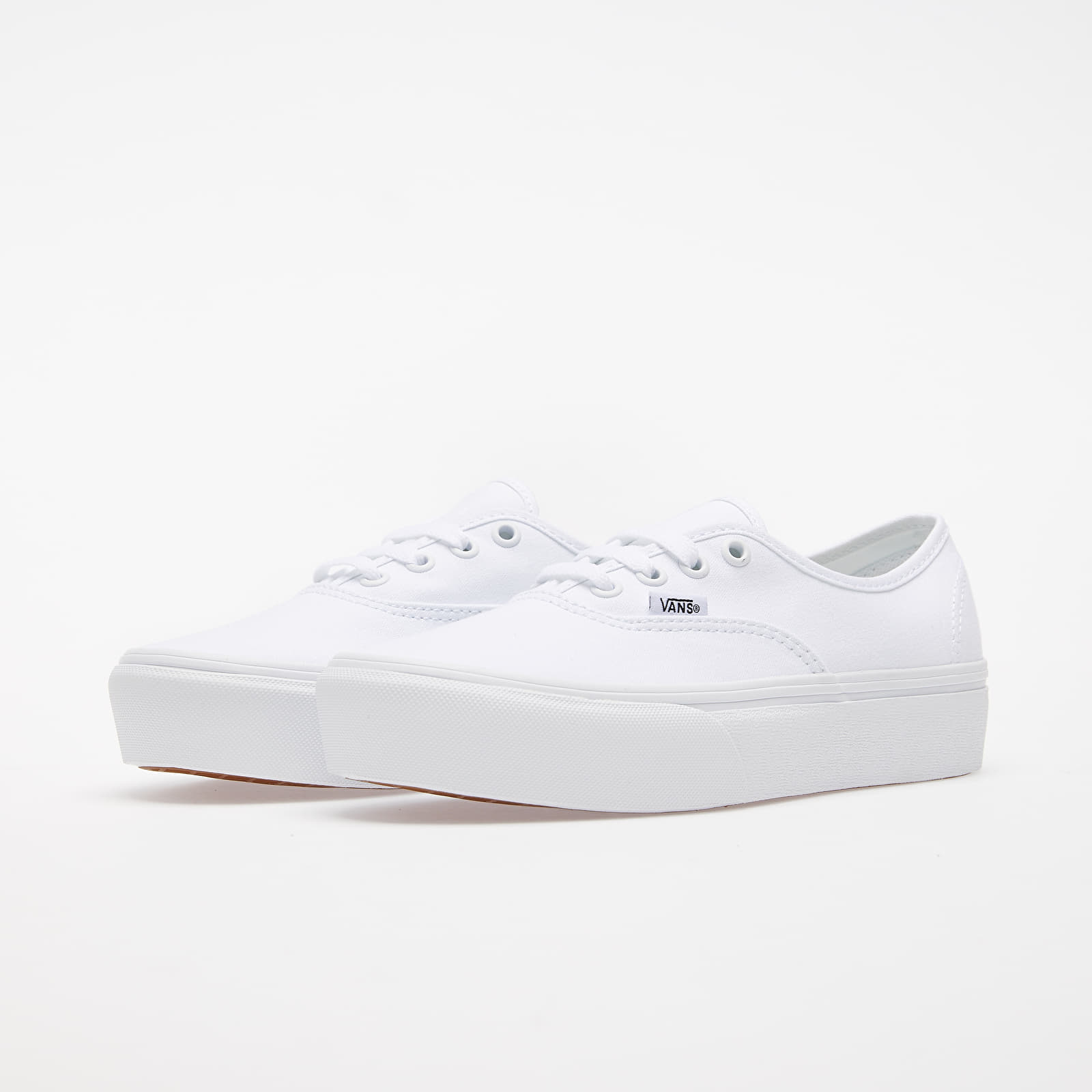 vans authentic platform true white