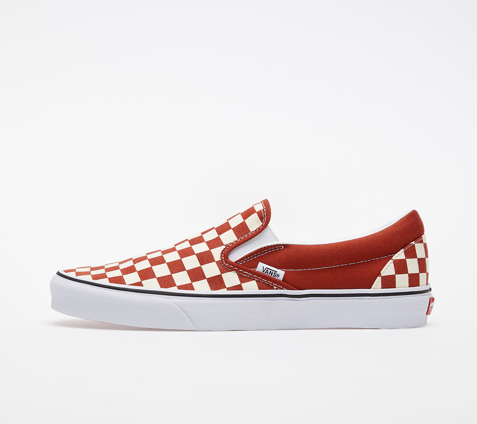 Vans Classic Slip-On (Checkerboard) Red/ True White EUR 45