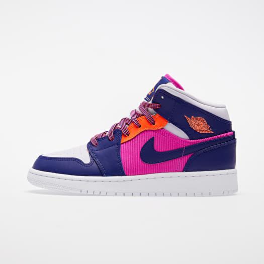Air Jordan 1 Mid (GS) Fire Pink/ Regency Purple-Barely Grape | Footshop