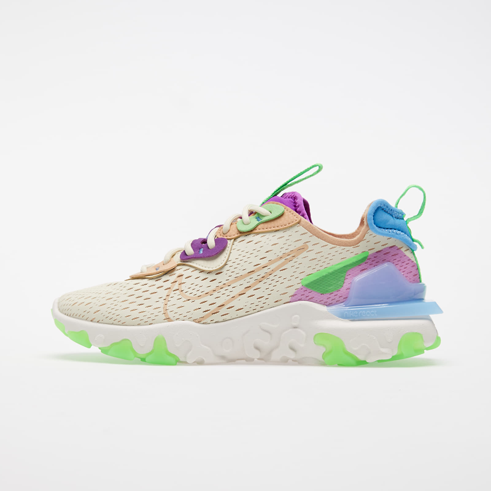 Women's shoes Nike W NSW React Vision Fossil/ Vachetta Tan-Vivid Purple