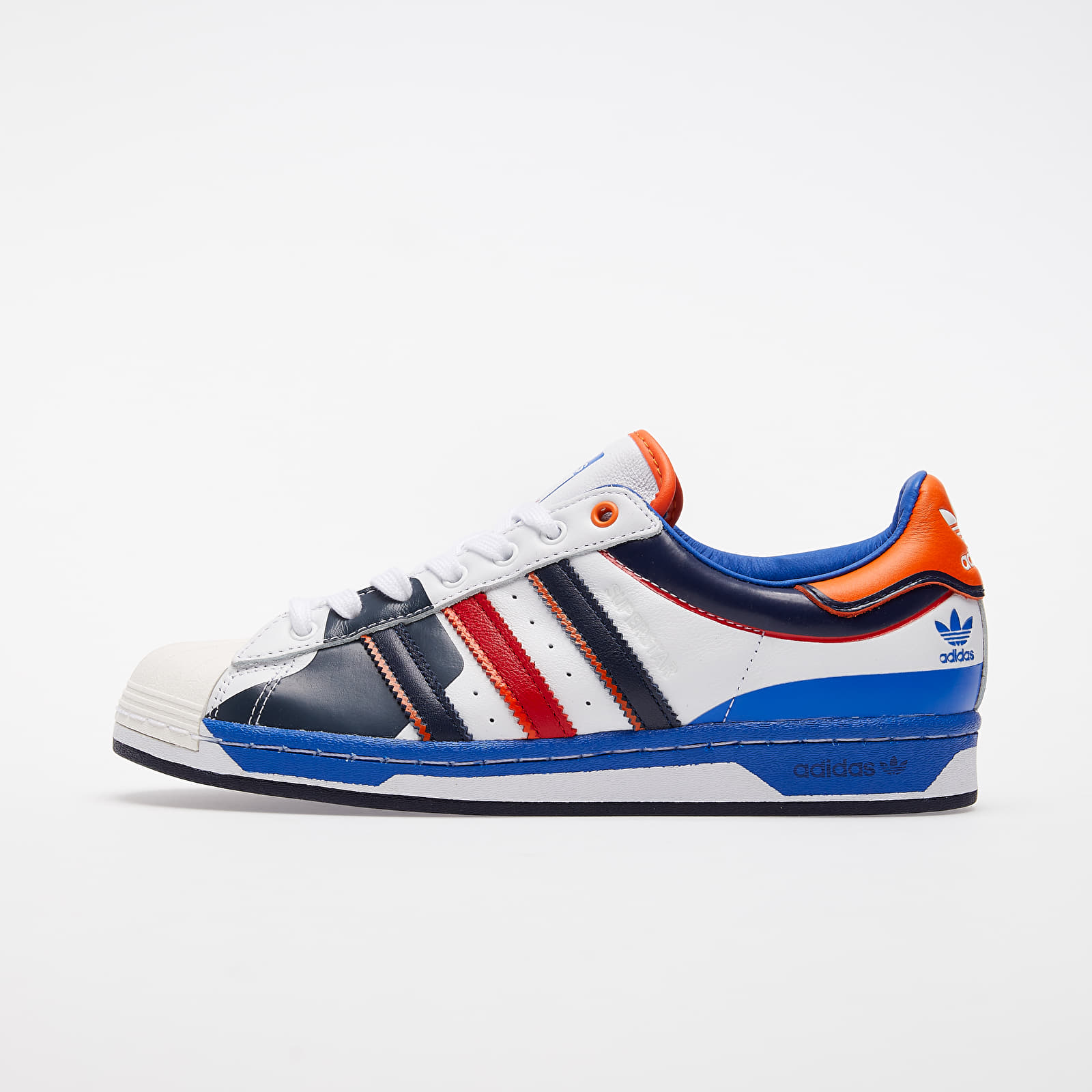 Men's shoes adidas Superstar Ftwr White/ Blue/ Scarlet