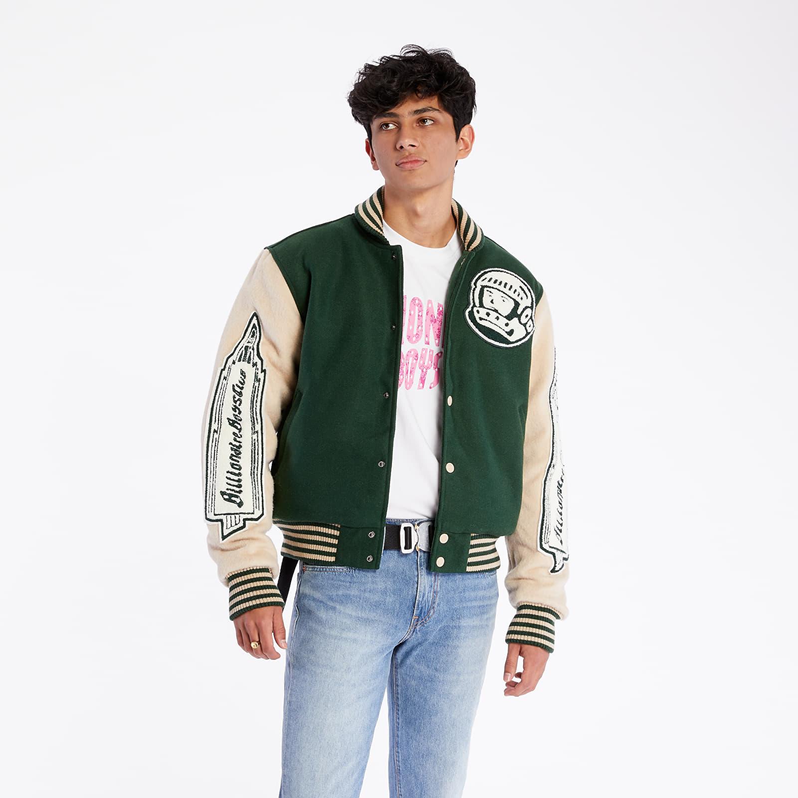 Jackets Billionaire Boys Club Astro Varsity Jacket Green/ Off White
