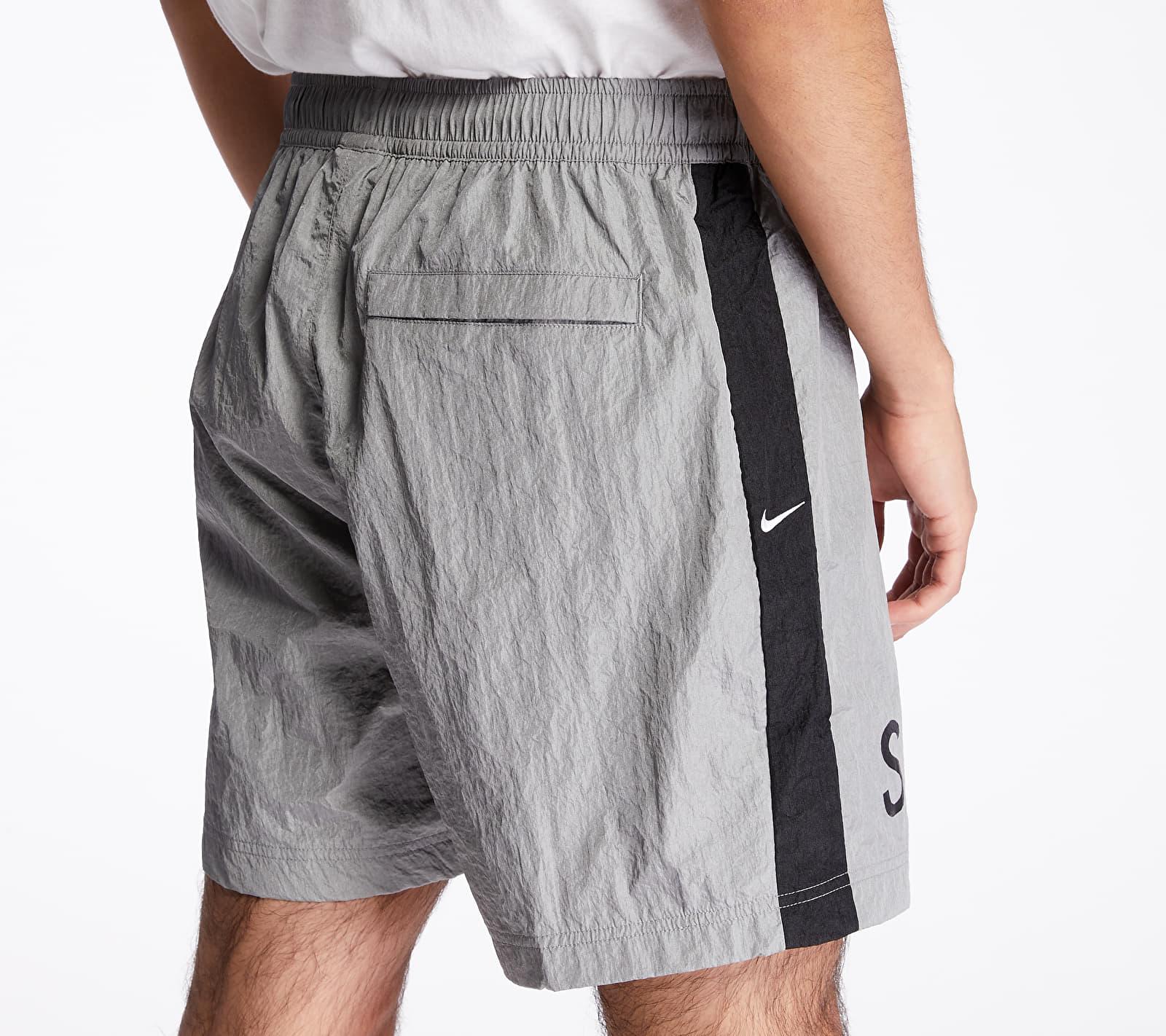 Nike Sportswear Swoosh Shorts Particle Grey/ Black/ White/ White, Gray