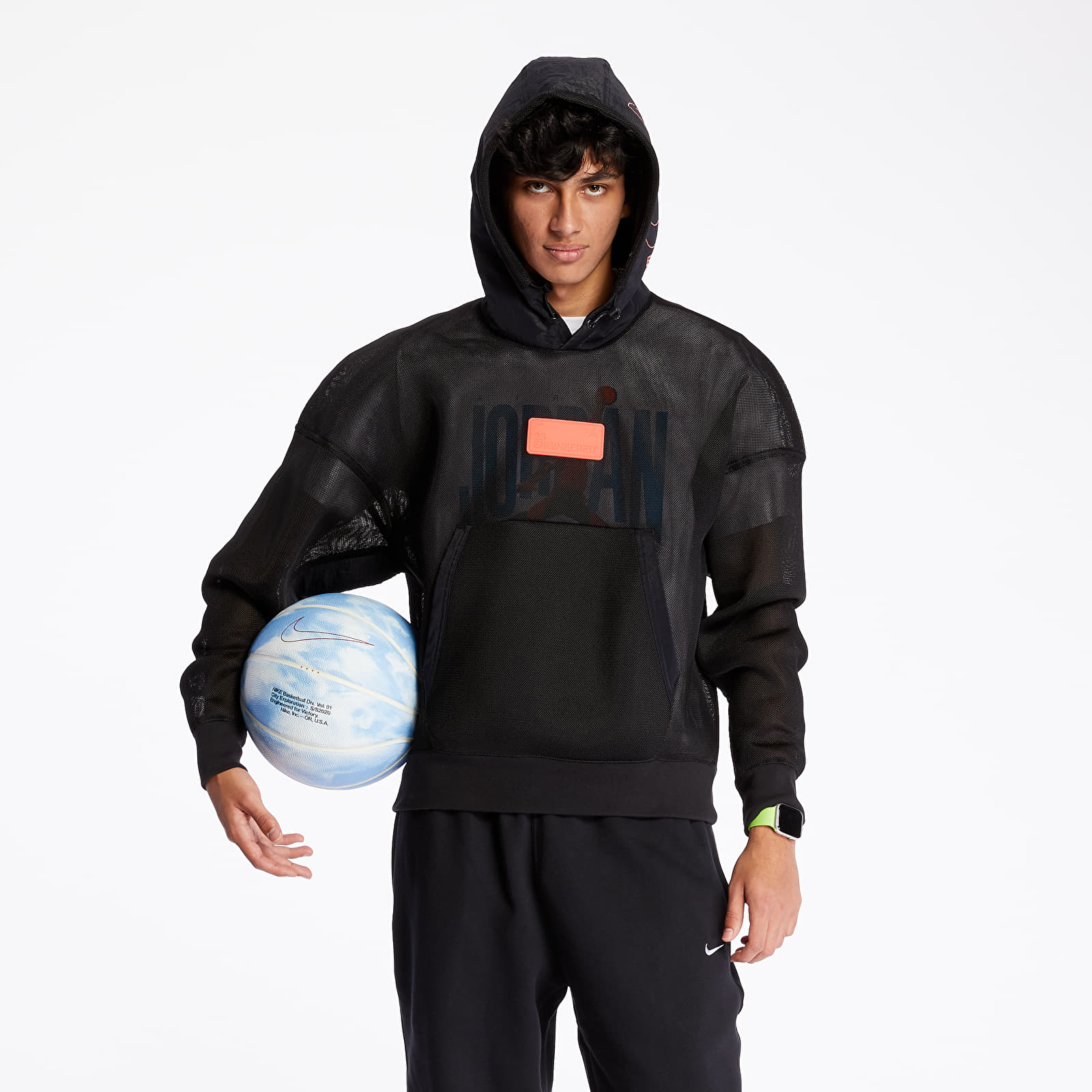 Sweatshirts Jordan 23 Engineered Spacer Mesh Hoodie Black/ Infrared 23