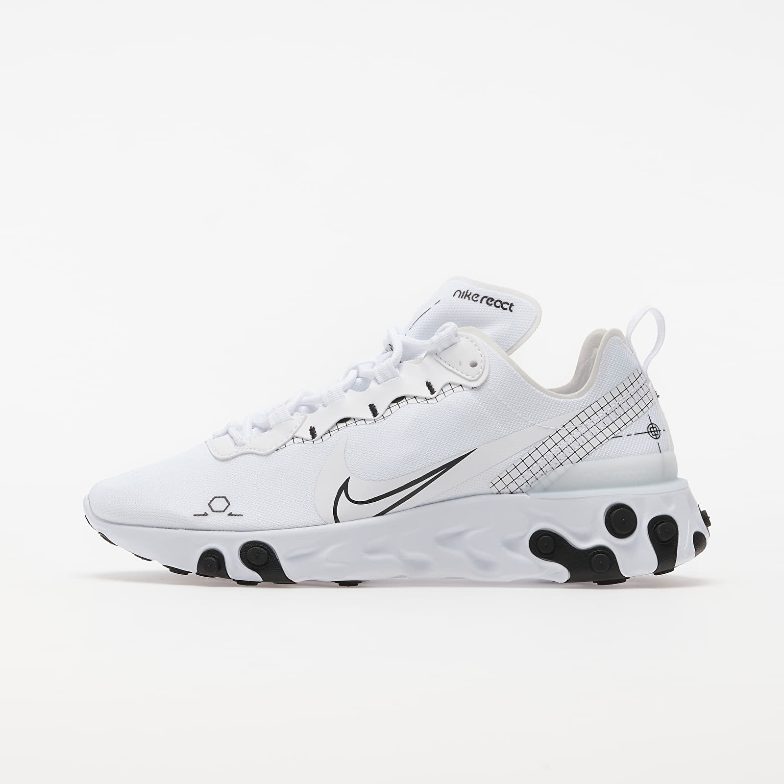 Zapatillas Hombre Nike React Element 55 White/ Black
