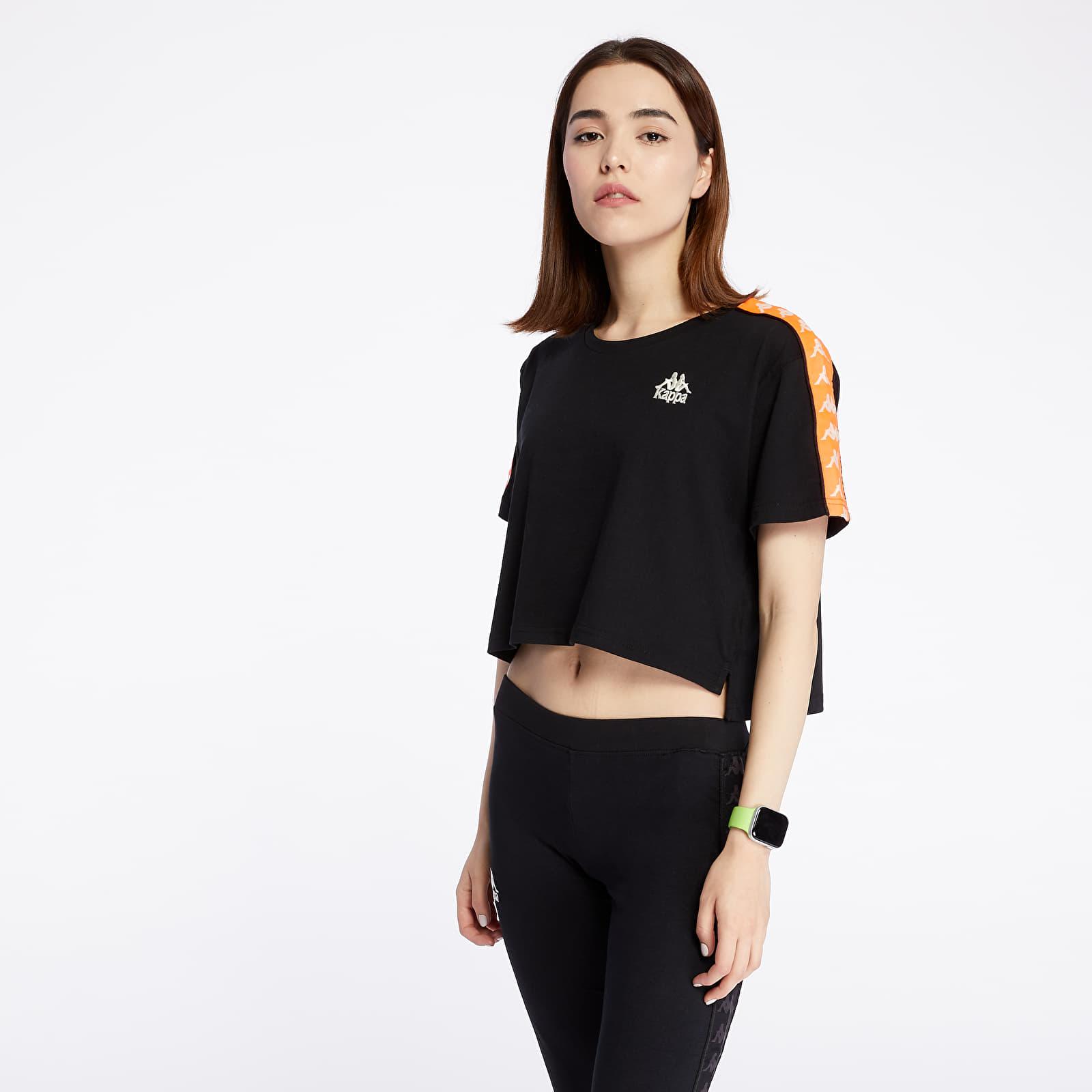 T-shirts Kappa 222 Banda Apua Tee Black/ Neon Orange