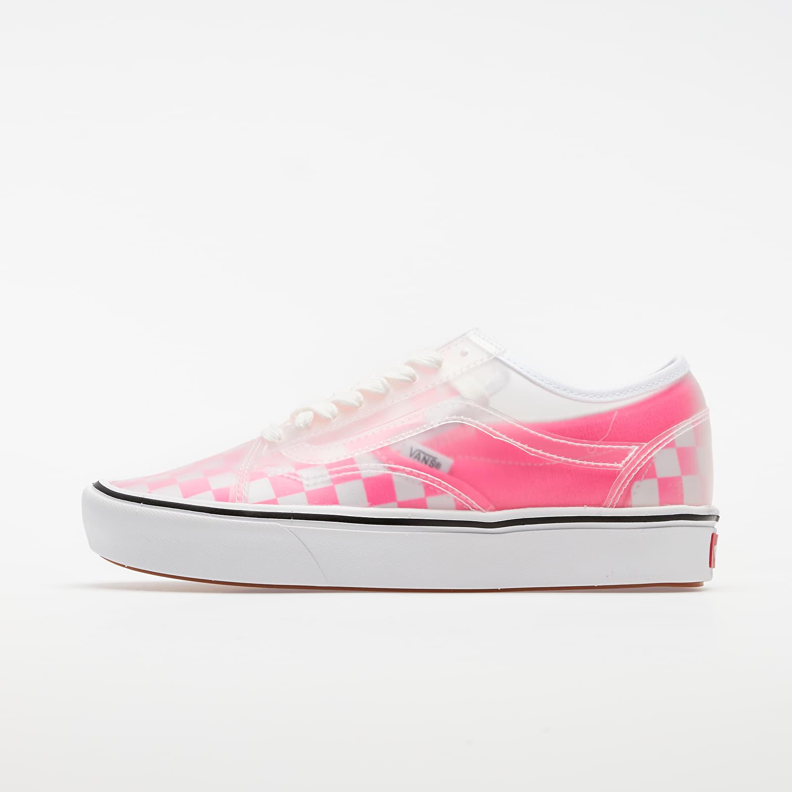 Men's shoes Vans ComfyCush Slip-Skool (Checkerboard) Pink/ True White