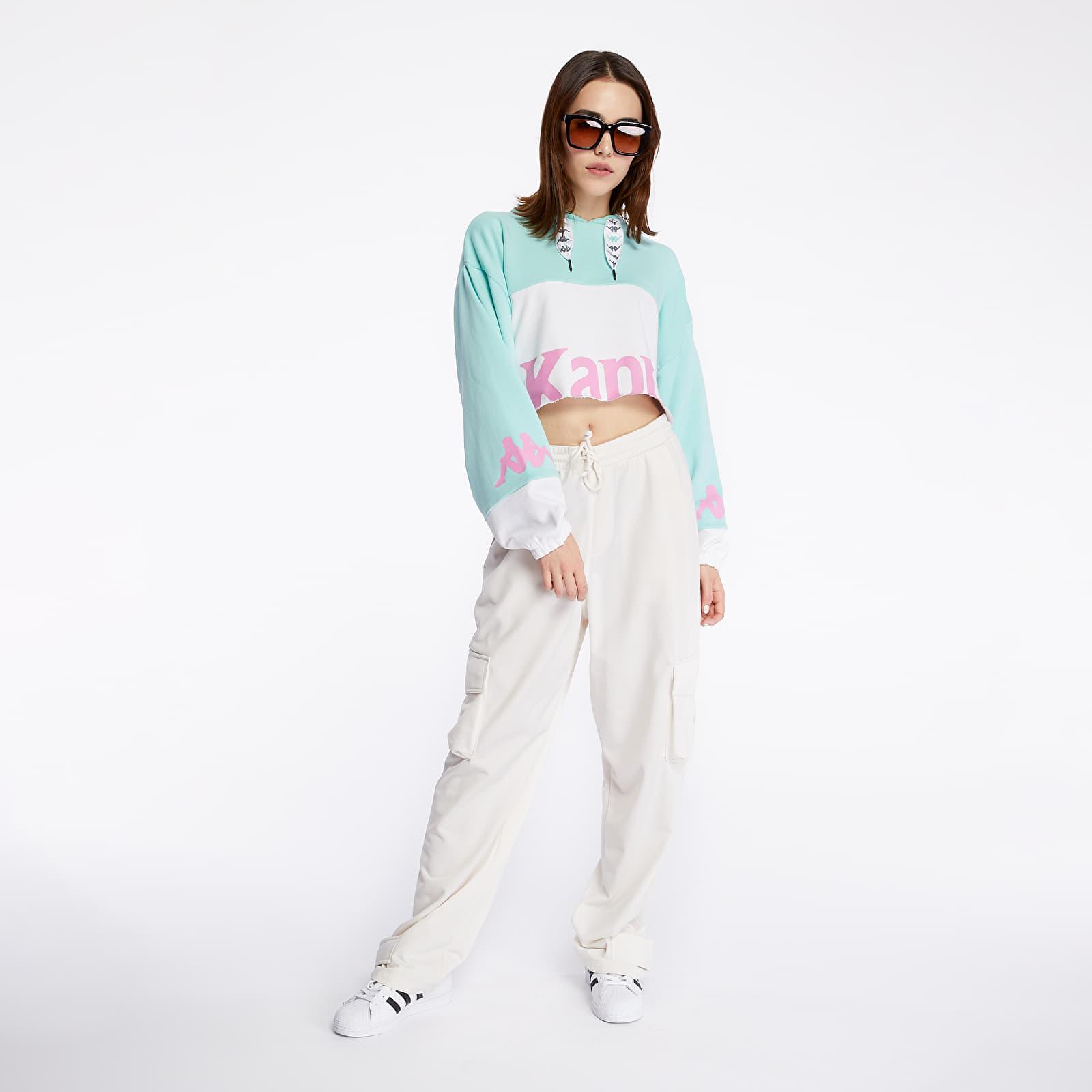 Sweatshirts Kappa Authentic Sand Claydee Hoodie Green Aqua/ White/ Pink