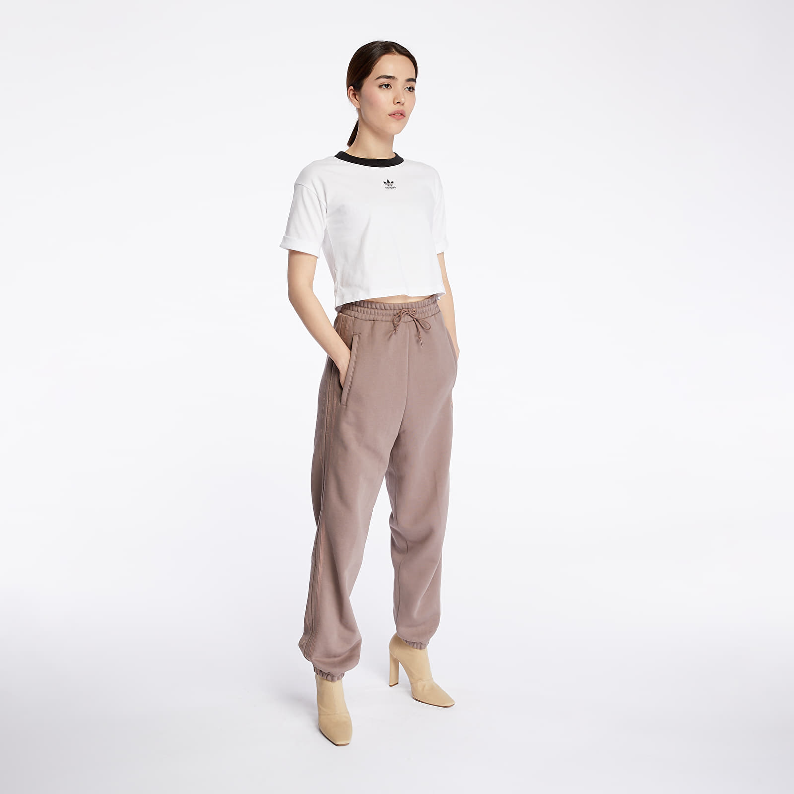 Pants and jeans adidas Cuffed Pants Trace Brown