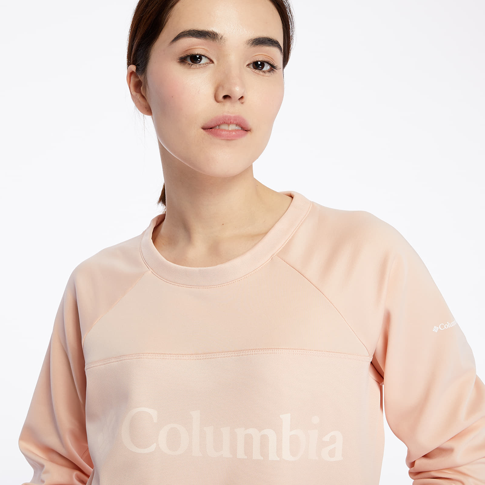 Mikiny a svetry Columbia Windgates Fleece Crewneck Pink