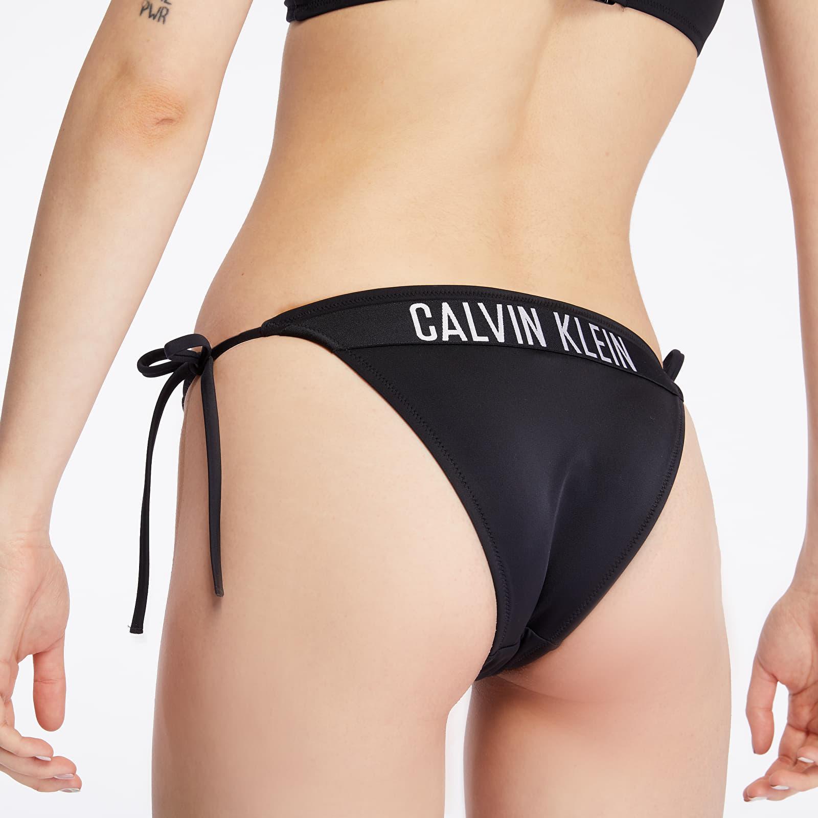 Swimsuit Calvin Klein Cheeky String Side Tie Swim Bikini Black
