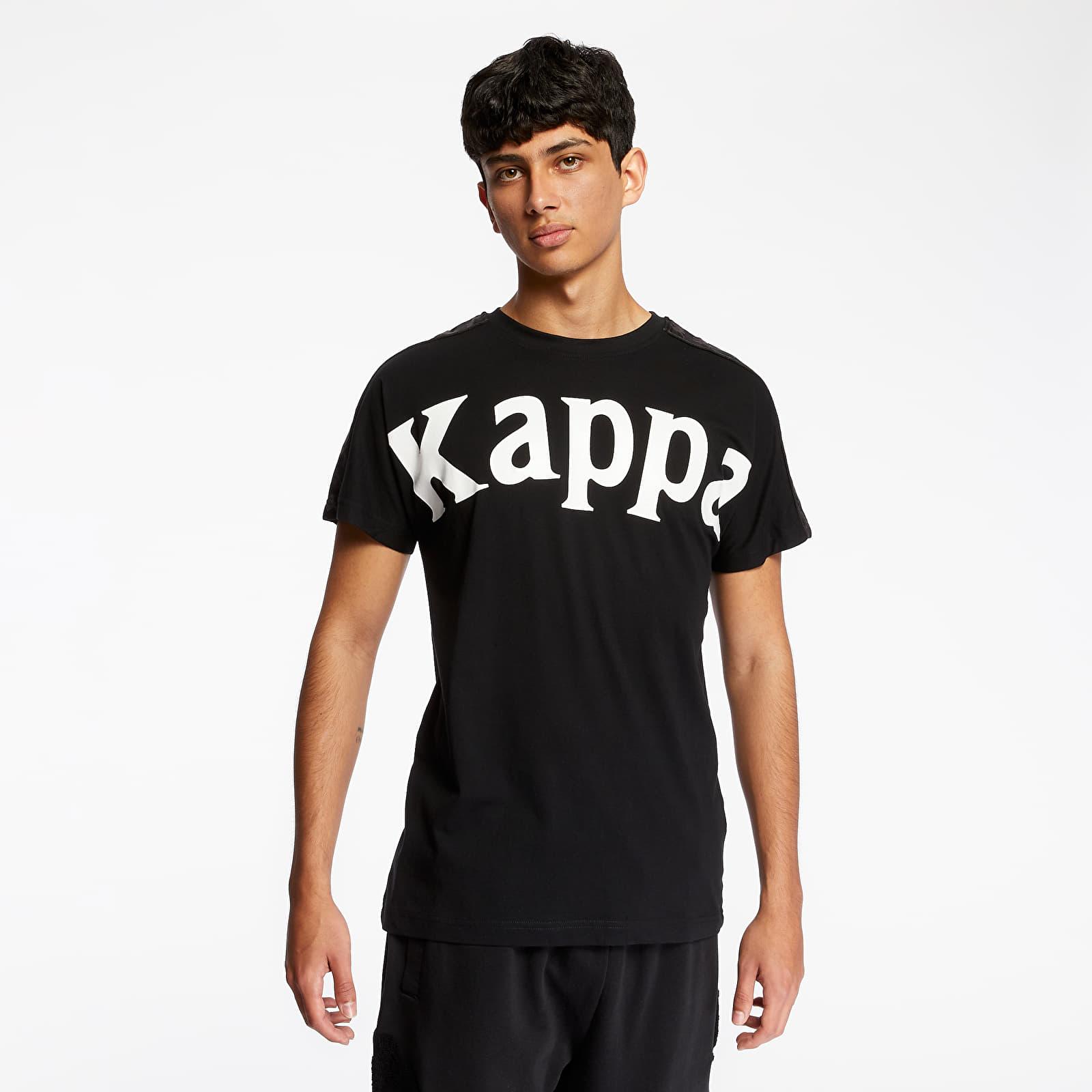 Pánské oblečení Kappa 222 Banda Cultin Tee Black/ White Antique