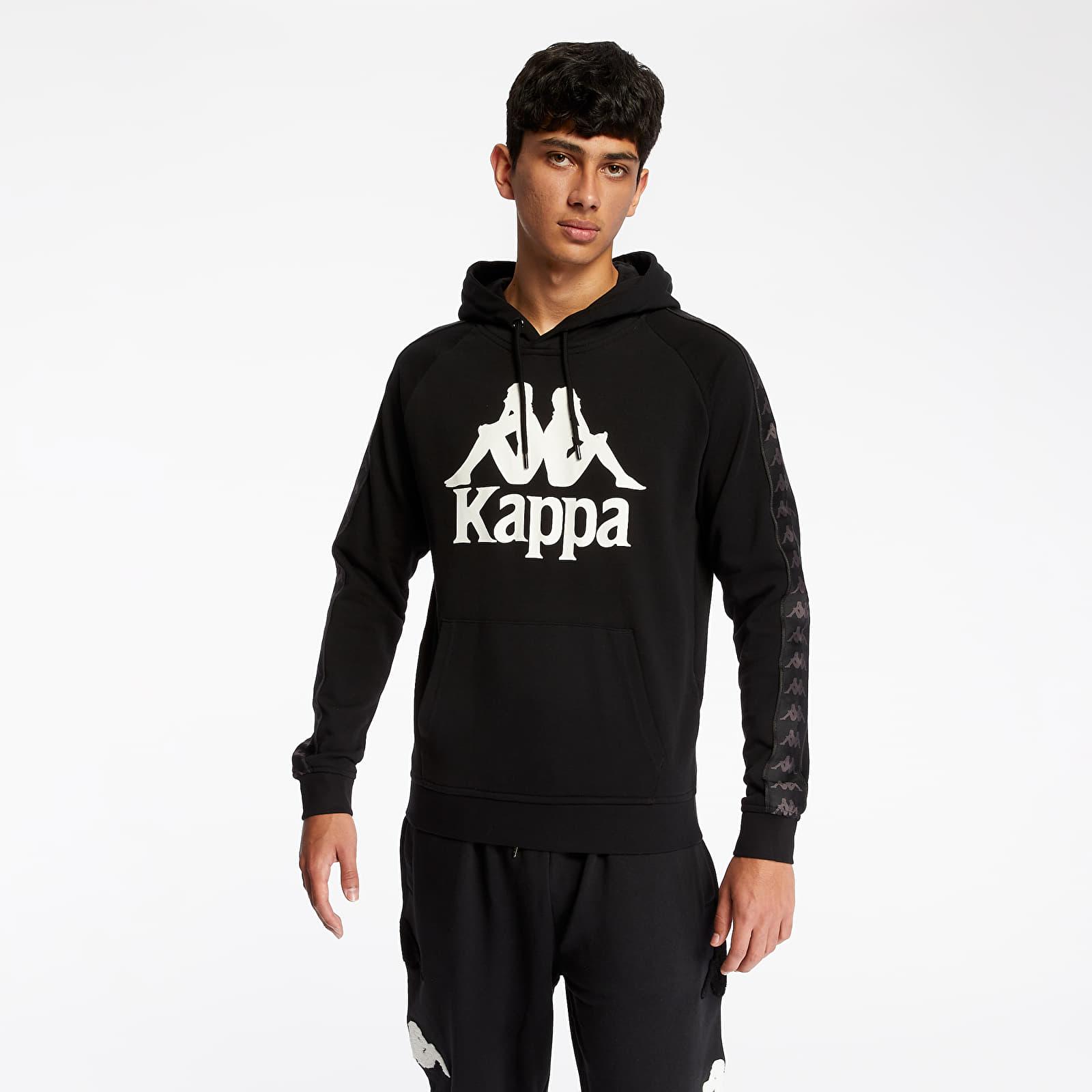Sweatshirts Kappa 222 Banda Hurtados Hoodie Black/ White Antique