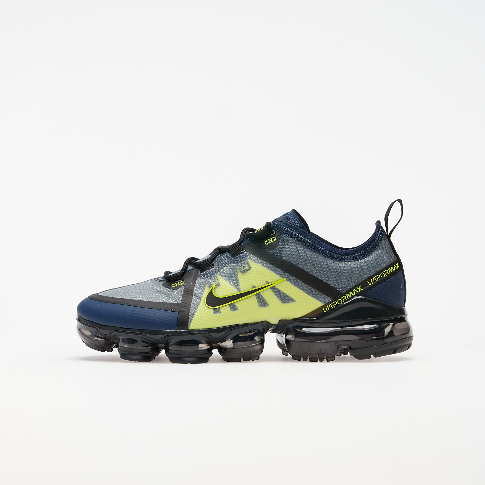 Детски кецове и обувки Nike Air Vapormax 2019 (GS) Midnight Navy/ Black-Lemon Venom