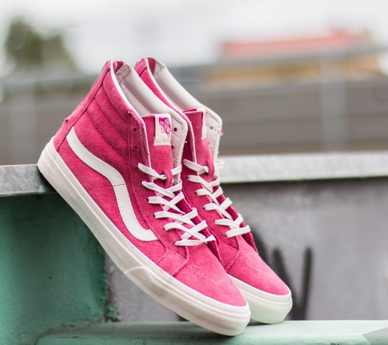 b9333ec1a3 Vans Sk8-Hi Slim Zip Scotchgard Pink