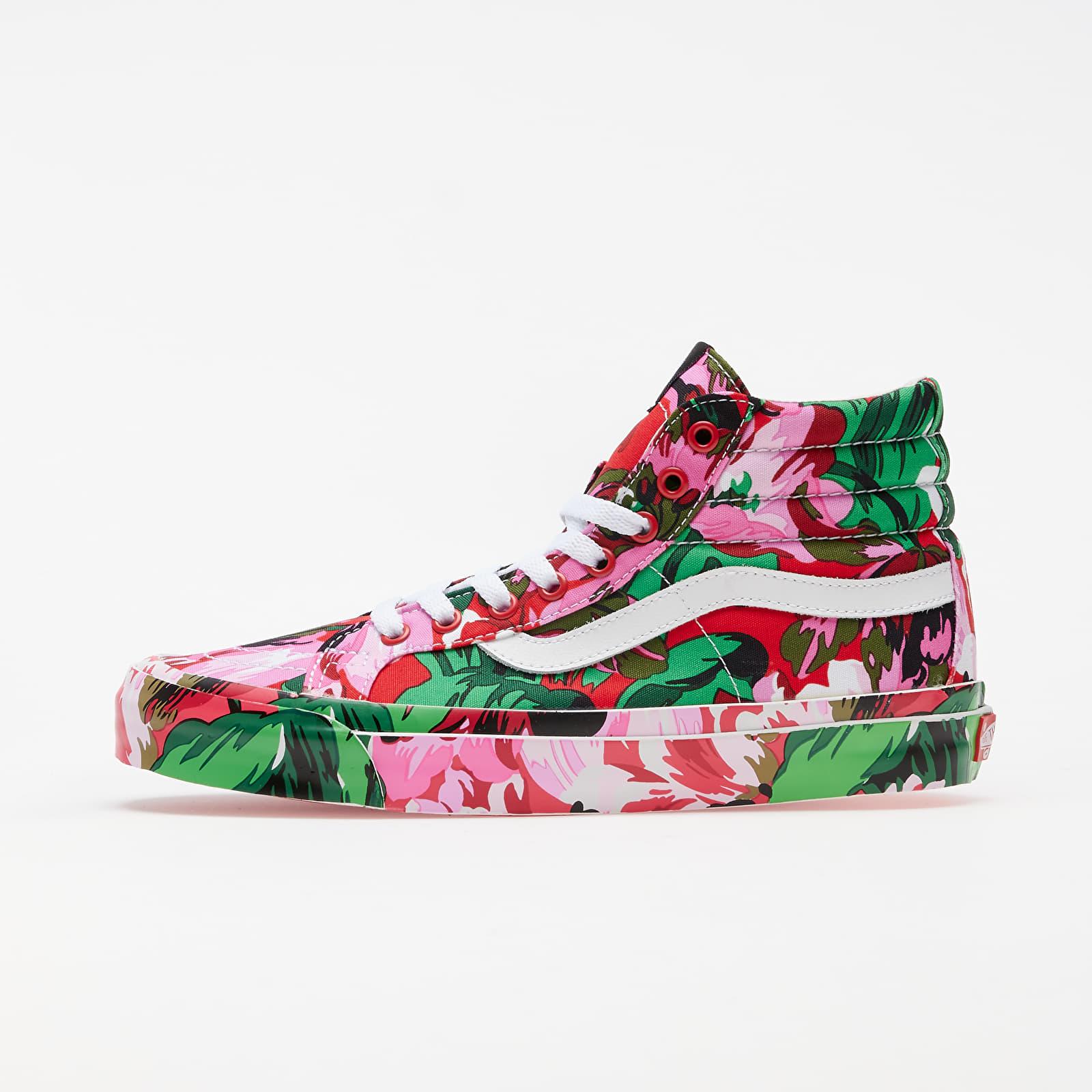 Pánske tenisky a topánky KENZO x Vans OG Sk8-Hi LX Floral Red/ True White