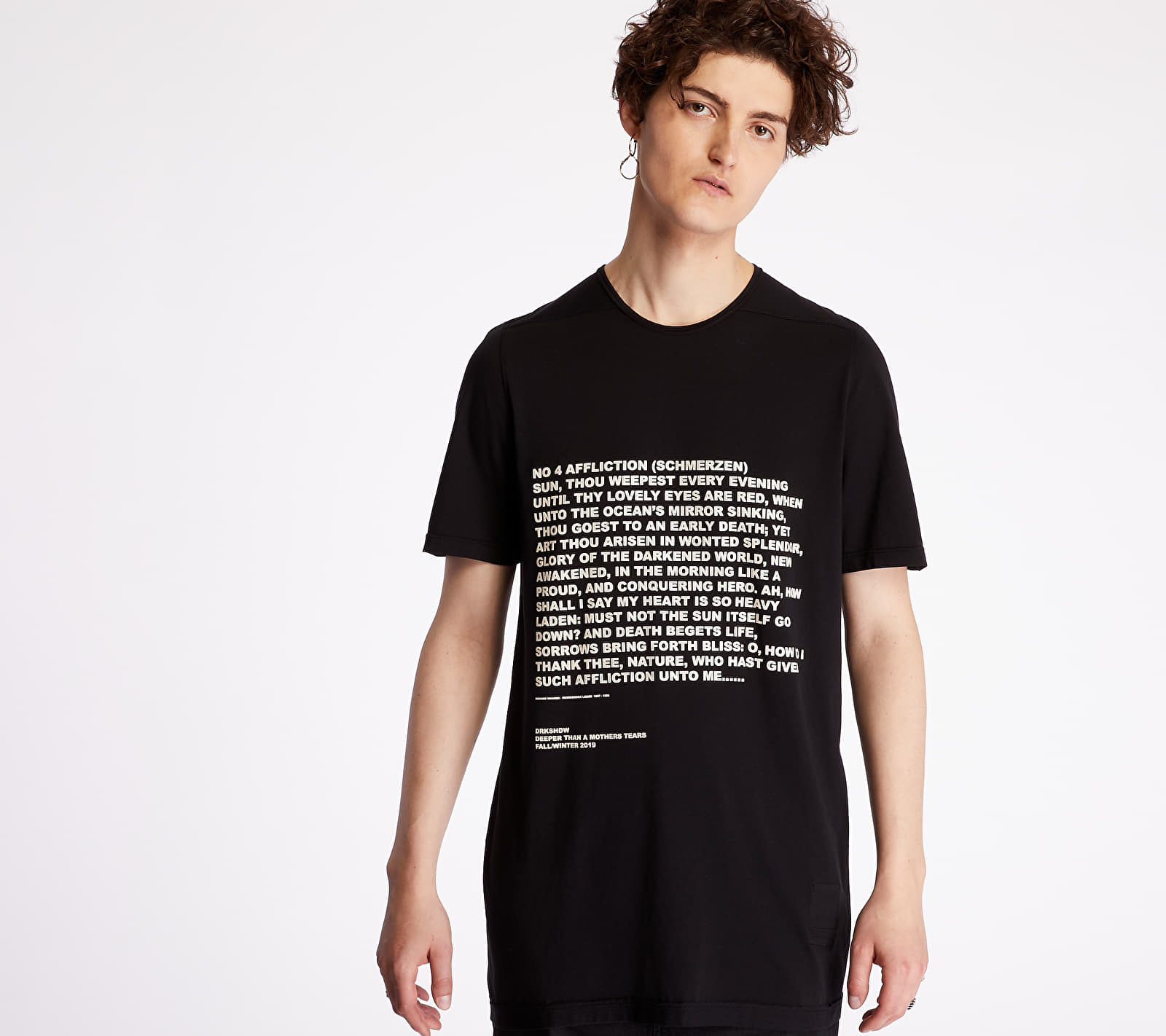 Rick Owens DRKSHDW Level Tee Black/ Natural M