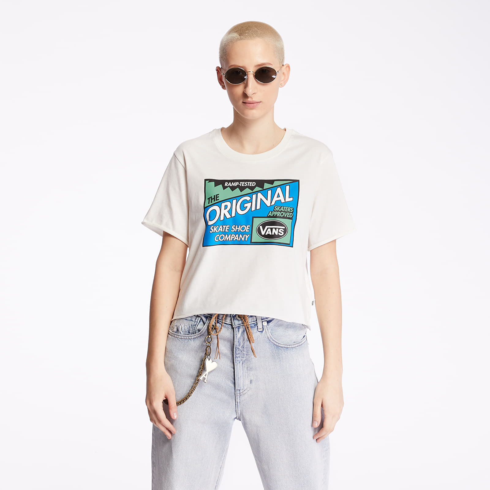 T-shirts Vans Ramp Tested Roll Tee Marshmallow