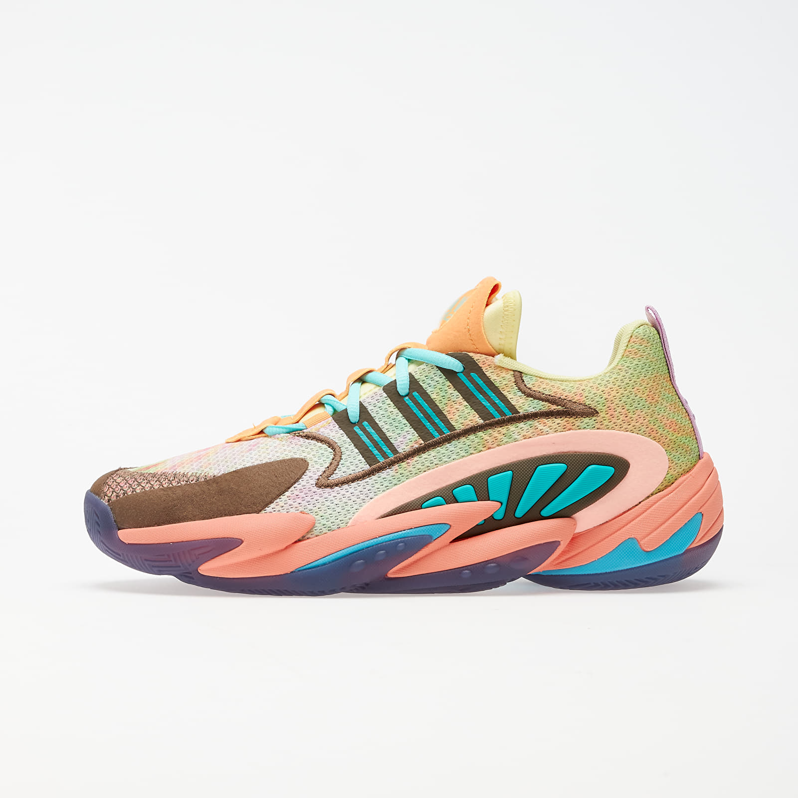 Men's shoes adidas x Pharrell Williams Crazy BYW 2.0 Yellow Tint/ Chalk Coral/ Trace Purple