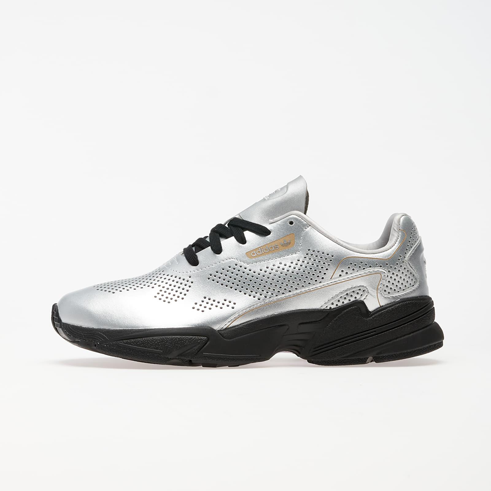 Women's shoes adidas Falcon Allluxe W Silver Metalic/ Core Black/ Ftw White