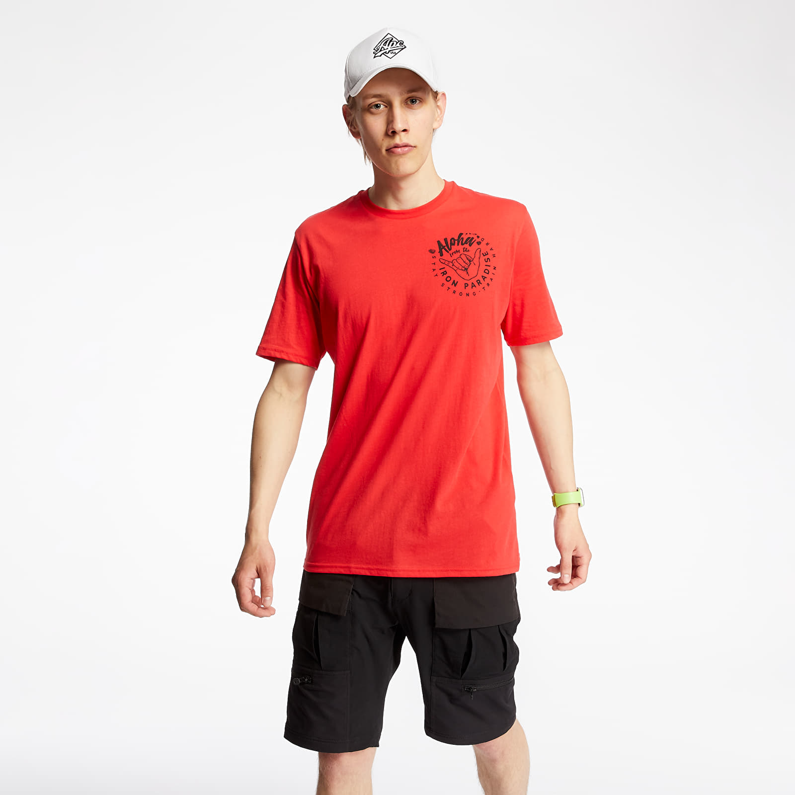 T-shirts Under Armour Project Rock Iron Paradise Tee Versa Red/ Black