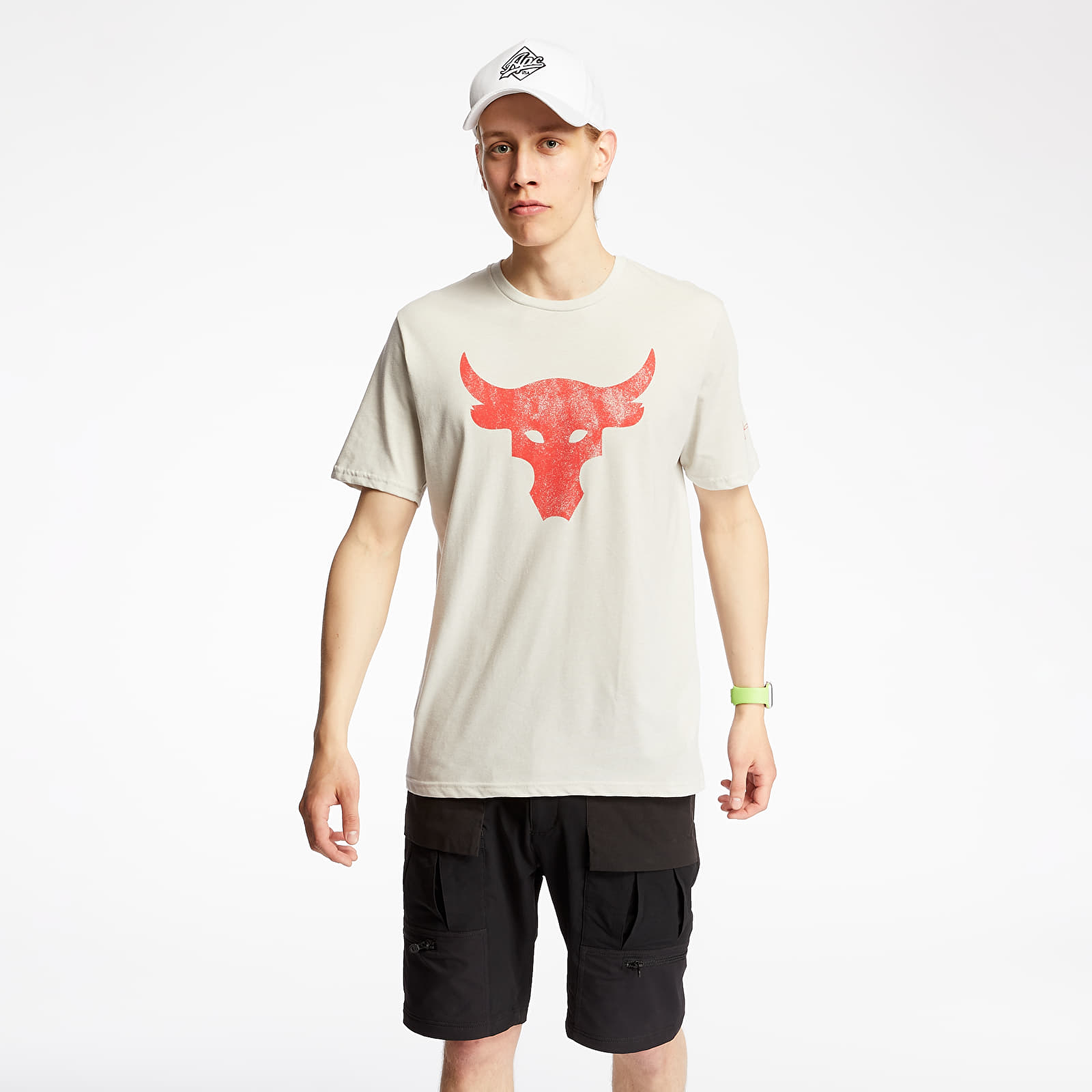 T-shirts Under Armour Project Rock Brahma Bull Tee Summit White/ Versa Red